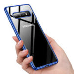 New Bakeey Plating Transparent Protective Case For Samsung Galaxy S10e/S10/S10 Plus Clear Soft TPU Back Cover