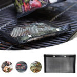 New Outdoor Barbecue BBQ Non-Stick Mesh Grilling Bag Mat High Temperature Resistance Camping Picnic