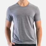 New Mens Outdoor Breathable Crew Neck Elastic Tops