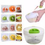 New Manual Pull Rope Food Vegetable Blender Meat Chopper Hand Held Pulling Slicer Mincer