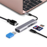 New 5 in 1 Type-c to USB 3.0 PD Fast Charge 4K HD Display TF Memory Card Reader Smart Adapter HUB for Tablet Smartphone