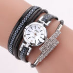 New DUOYA D257 Shining Crystal Flower Dial Women Bracelet Watch