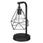 New Diamond Shape PVC LED Night Light Modern Table Bedroom Home Indoor Decor Lamp