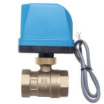 New DN25 Electric Motorized 2 Way 3-Wire Ball Valve Brass AC220V 1.6Mpa for Water