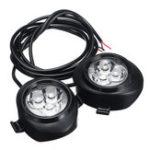 New 12V 6LED 7000k lP67 Motorcycle Auxiliary LED Light Front Fork Lights Guard Bar Headlight Rubber Bracket