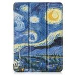 New Tri-Fold Printing Tablet Case Cover for Lenovo Tab E10 Tablet – Starry Sky