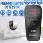 New Gas Analyzer Formaldehyde Detector HCHO & TVOC & API Without Batteries Air Analyzers Tester