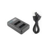 New Ruigpro LCD Dual Battery Charger for Gopro Hero/7/6/5/4 SJcam 8 Sport Camera Accessories