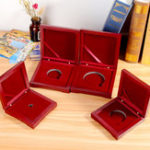 New 10-75mm Wooden Single Coin Display Storage Case Coin Collecting Box For Coins Medals