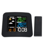 New TS-75 LCD Digital In/Outdoor Temperature Humidity Barometer Wireless Weather Station Color Snooze Alarm Clock Weather Forecast Meter