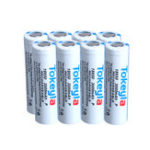 New Tokeyla 8Pcs 2600mAh 18650 Battery 3.7V Protected Rechargeable Flashlight Power Camping Hunting Portable Li-ion Battery