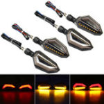New 4Pcs 12V Motorcycle Red LED Turn Signal Indicator Lights For Kawasaki/Yamaha/BMW/Honda/KTM
