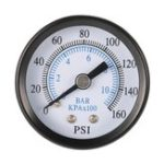 New TS-40-10 1/8 Inch 160 Psi 0-10bar Compressor Compressed Air Pressure Gauge Small Double Scale Measurer