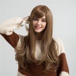 New 26 Inch Long Straight Synthetic Hair Wig