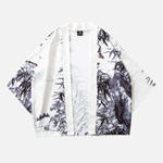 New Mens Fashion Landscape Painting Casual Coats