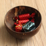 New Natural Coconut Shell Bowl Dishes Handmade Handicraft Vintage Craft Decorations