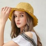 New Women Solid Color Cotton  Bucket Hat