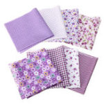 New 8Pcs/Set Cotton Fabric Assorted Pre Cut Squares Quilt Pillow Handcraft  Home Decor
