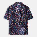 New Men Floral Printed Quickly Drying Hawaiian Shirts