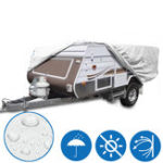 New 4.2x 2.2x 1.35m Outdoor Camping Trailer Waterproof Cover Sun Rain Dust Anti-UV Campervan Protector