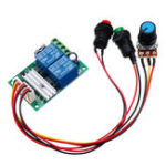 New 6V 12V 24V PWM DC Motor Speed Controller Module Switch Electric Push Rod Motor Controller Button
