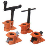 New 1/2 Inch Wood Gluing Pipe Clamp Quick Release Heavy Duty Carpenter Woodworking Tool