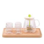 New XIAOMI 17PIN Tea Pot Set Borosilicate Glass Teapot Set With 304 Stainless Steel Infuser Strainer Heat Resistant Loose Leaf Tea Pot Tool Kettle Set