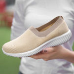 New Women Sneakers Shoes Mesh Breathable Slip On Casual Shoes