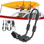 New Aluminum Roof Rack Mounting Bracket Installing Support Accessories With 2 Straps For Surfboard Kayak