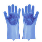 New AUGIENB Magic Silicone Rubber Dish Washing Gloves