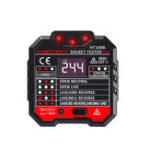 New 2pcs HT106B Socket Outlet Tester Circuit Polarity Voltage Detector Wall EU Plug Breaker Finder RCD Test