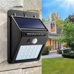 New 2pcs Solar Power 20 LED PIR Motion Sensor Wall Light Waterproof  Outdoor Path Yard Garden Security Lamp