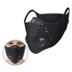 New Activated Carbon Filter Face Mask Anti Dust Haze Bicycle Riding Black