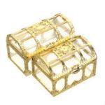 New Treasure Chest Jewelry Box Crystal Gem Storage Organizer Mini Case Birthday Gifts