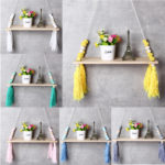 New Chic Hanging Wall Shelf Wood Rope Swing Shelves Decorative Wood Holder Vintage Home Decorations