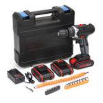 New 36V 6500mAh Cordless Power Drill Electric Screwdriver Drills Kit W/ 1/2/3Pcs Li-ion Battery