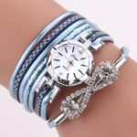 New DUOYA D258 Retro Style Bow Crystal Women Bracelet Watch