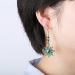 New Ethnic Bronze Sun Ear Drop Earrings