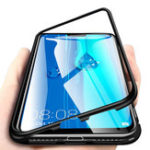 New Bakeey 360° Magnetic Adsorption Metal Tempered Glass Flip Protective Case for Huawei Y9 2019