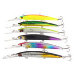 New 6Pcs/Set 14.5CM 12.7G Minnow Floating Fishing Lure Treble Hook Bass Baits Tackle