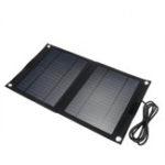 New DC 12V/5V USB Portable 25W Solar Panel Mobile Sun-Power Battery Power Charger