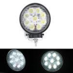 New 27W 9 LED Flood/Spot Beam Round Work Light Bar Ultra Thin Motorcycle Offroad Lamp Car Truck ATV