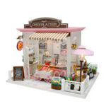New Hoomeda C007 DIY Doll House Cocoa's Fantastic Ideas With Cover Music Movement Gift Decor Toys