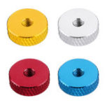New 10Pcs M3 Hand Knurled Thumb Aluminum Alloy Screw Nut Spacer Flat Washer