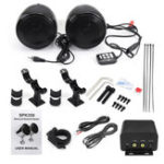 New 300W Waterproof 5.0 Motorcycle Audio Stereo Speaker Amplifier System With Bluetooth Function