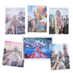 New DIY Digital Acrylic Canvas Oil Paintings Frameless Travel Paint By Numbers Kits