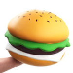 New Giant Squishy Cheese Burger Humongous Hamburger 25CM Slow Rising Rebound Jumbo Gift Collection Decor Toys