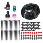 New DIY 25M Drip Irrigation System Self Plant 30pcs Dripper Watering Garden Hose