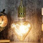 New E27 4W Heart Shaped Non-dimmable LED COB Filament Light Bulb Edison Lamp Indoor Home Decor AC220V