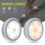 New 1-10PCS 5 LED Wireless PIR Auto Motion Sensor Infrared Night Light Cabinet Stair